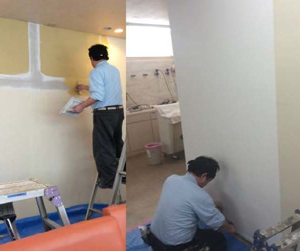 【内・外装】院内の壁補修工事